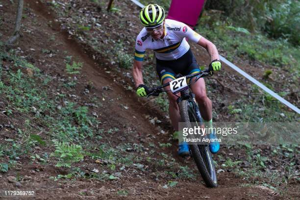 Daniel McConnell of Australia competes in Men's race during the Cycling Mountain Bike Tokyo 2020 Test Event on October 06 2019 in Izu Shizuoka Japan