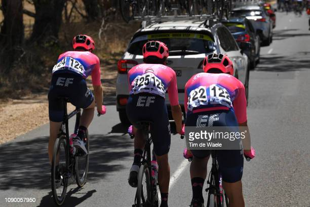 Daniel McLay of Great Britain and Team EF Education First Pro Cycling / Lachlan Morton of Australia and Team EF Education First Pro Cycling / Alberto...