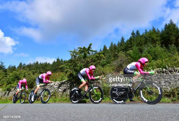 Daniel McLay of Great Britain / Matti Breschel of Denmark / Hugh Carthy of Great Britain / Jose Neves Fernandez of Portugal / Taylor Phinney of The...