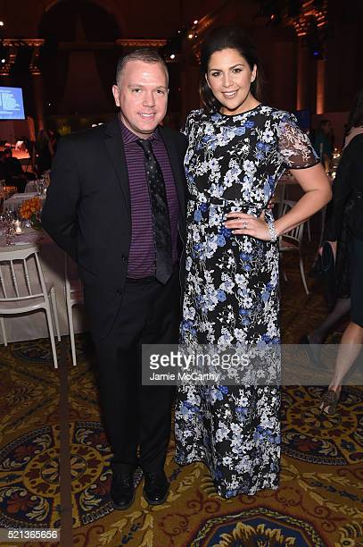 Daniel Miller and Singersongwriter Hillary Scott attend Stand Up To Cancer's New York Standing Room Only presented by Entertainment Industry...