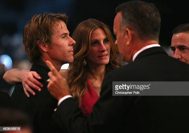 Daniel Moder and actors Julia Roberts and Tom Hanks attend 20th Annual Screen Actors Guild Awards at The Shrine Auditorium on January 18 2014 in Los...