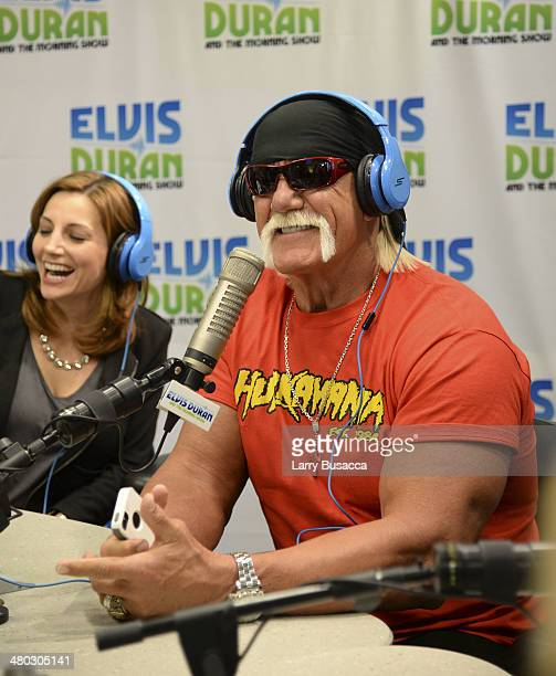 Daniel Monaro and Hulk Hogan duringThe Elvis Duran Z100 Morning Show at Z100 Studio on March 24 2014 in New York City