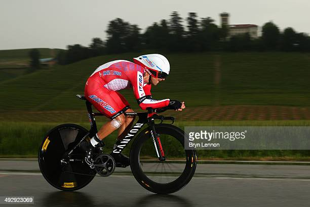 Daniel Moreno of Spain and Katusha in action during the twelfth stage of the 2014 Giro d'Italia a 42km Individual Time Trial stage between Barbarasco...