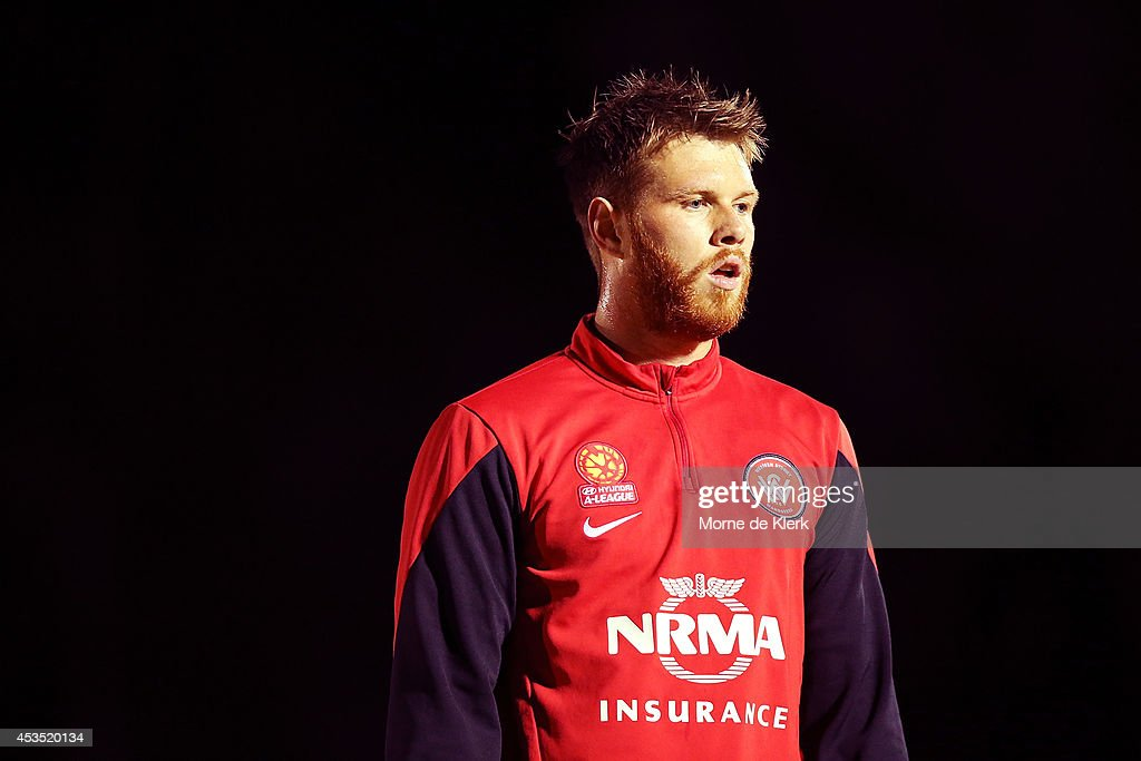 Daniel Mullen of Western Sydney looks on before the FFA Cup match between Adelaide City and Western Sydney Wanderers at Marden Sports Complex on August 12, 2014 in Adelaide, Australia.