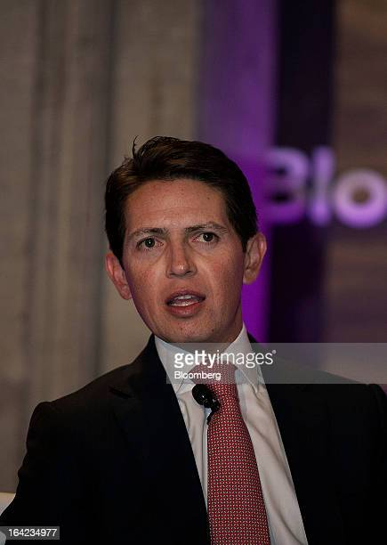 Daniel Muniz chief financial officer of Grupo Mexico SAB speaks during the Bloomberg Mexico Economic Summit at the Club de Banqueros in Mexico City...