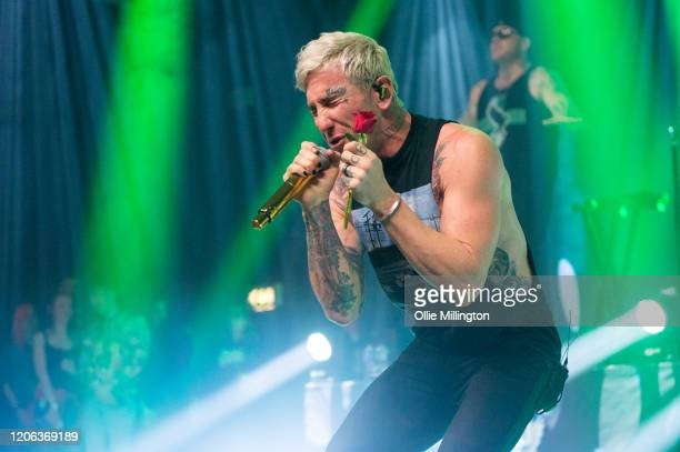 Daniel Murillo and George Arthur Ragan Johnny 3 Tears of Hollywood Undead perform at O2 Forum Kentish Town on February 14 2020 in London England