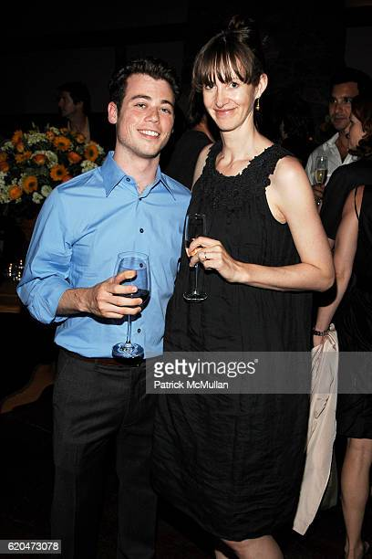 Daniel Murphy and Lucy Gilmour attend WSJ Editorial Team Introduction Cocktail Party at AGO Restaurant @ The Greenwich Hotel on June 12 2008 in New...