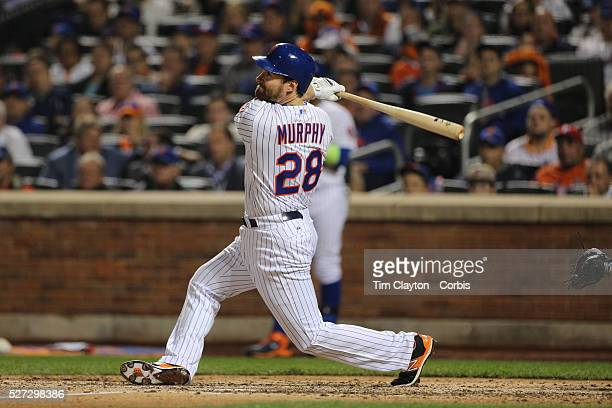 Daniel Murphy New York Mets batting during the New York Mets Vs Los Angeles Dodgers game four of the NL Division Series at Citi Field Queens New York...