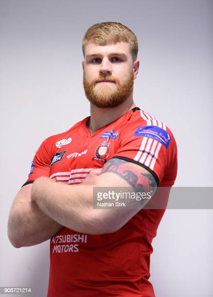 Daniel Murray of Salford Red Devils poses for a portrait during the Salford Red Devils Media Day at AJ Bell Stadium on January 16 2018 in Salford...
