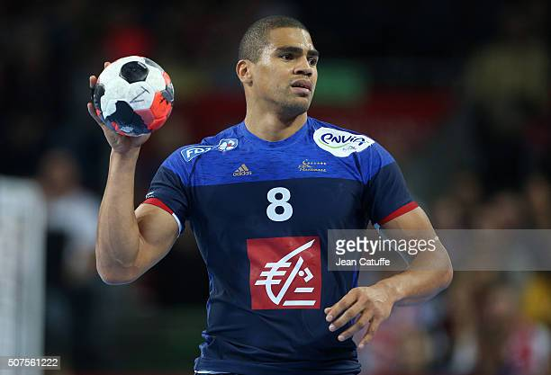 Daniel Narcisse of France in action during the Men's EHF European Handball Championship 2016 between France and Denmark at Centennial Hall on January...