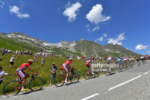 Daniel Navarro Garcia of Spain and Team Cofidis / Nicolas Edet of France and Team Cofidis / Ilnur Zakarin of Russia and Team Katusha / Col De La...