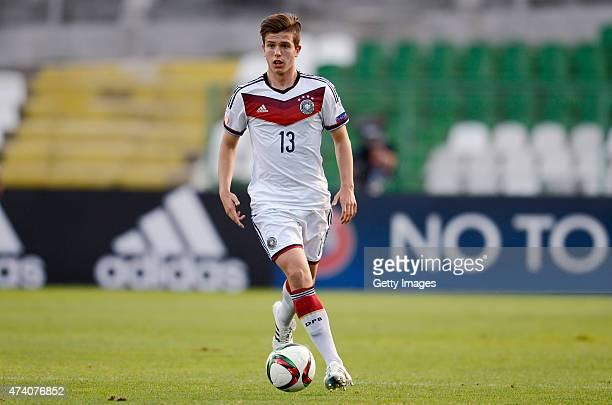 Daniel Nesseler of Germany U17 in action during the UEFA European Under17 Championship Semi Final match between Germany U17 and Russia U17 at Beroe...