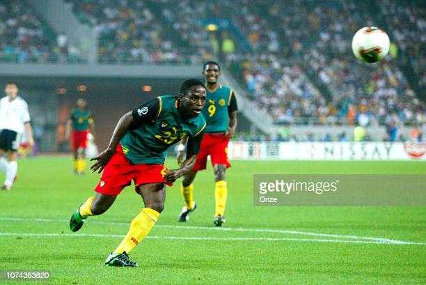 Daniel NGOM KOME of Cameroon during the FIFA World Cup match between Cameroon and Germany on June 11 2002 in Ecopa de Shizuoka stadium Japan