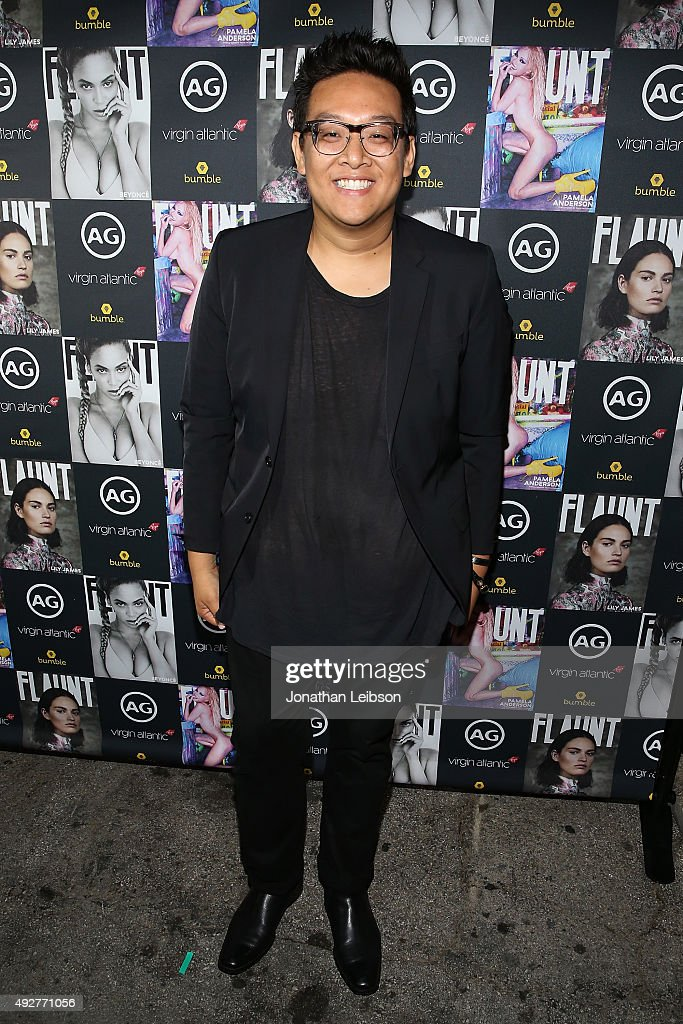 Daniel Nguyen attends the Flaunt Magazine And AG Celebrate The LA launch Of The CALIFUK Issue At The Hollywood Roosevelt at Hollywood Roosevelt Hotel on October 14, 2015 in Hollywood, California.