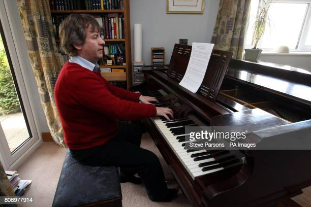 Daniel Nicholls Kate Middleton's former piano teacher who has written a song for her upcoming wedding to Prince William plays the piano at his home...