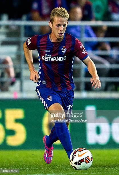 Daniel Nieto of SD Eibar controls the ball during the La Liga match between SD Eibar and Villarreal CF at Ipurua Municipal Stadium onSeptember 24...