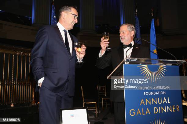 Daniel Nigro and Allan Chapin attend French American Foundation Annual Gala 2017 at Gotham Hall on November 28 2017 in New York City