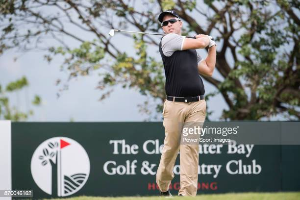 Daniel Nisbet of Australia during the Clearwater Bay Open PGA Tour 2017 at Clearwater Bay on November 4 2017 in Hong Kong Hong Kong