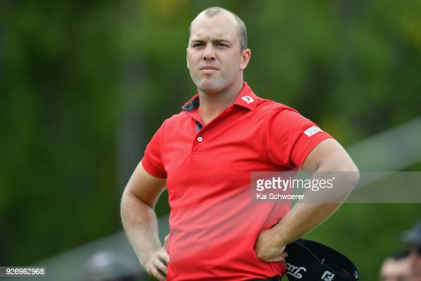 Daniel Nisbet of Australia looks on during day four of the ISPS Handa New Zealand Golf Open at Millbrook Golf Resort on March 4 2018 in Queenstown...