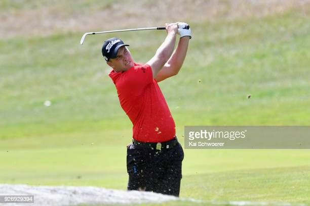 Daniel Nisbet of Australia plays a shot during day four of the ISPS Handa New Zealand Golf Open at Millbrook Golf Resort on March 4 2018 in...