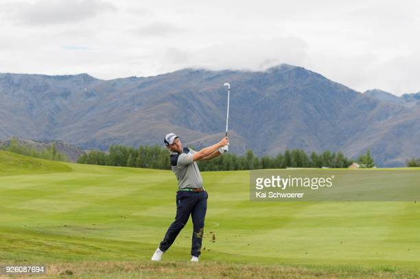Daniel Nisbet of Australia plays a shot during day two of the ISPS Handa New Zealand Golf Open at Millbrook Resort on March 2 2018 in Queenstown New...