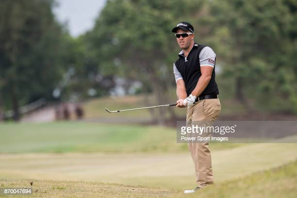 Daniel Nisbet of Australia plays a shot during the Clearwater Bay Open PGA Tour 2017 at Clearwater Bay on November 4 2017 in Hong Kong Hong Kong