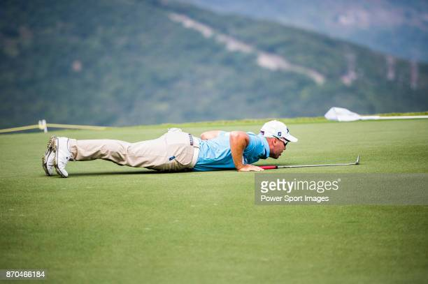 Daniel Nisbet of Australia prepares his shot during the Clearwater Bay Open PGA Tour 2017 at Clearwater Bay on November 5 2017 in Hong Kong Hong Kong
