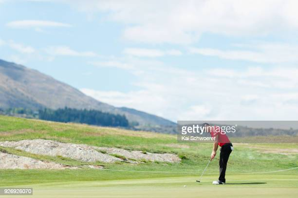 Daniel Nisbet of Australia putts during day four of the ISPS Handa New Zealand Golf Open at Millbrook Golf Resort on March 4 2018 in Queenstown New...