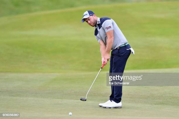 Daniel Nisbet of Australia putts during day two of the ISPS Handa New Zealand Golf Open at Millbrook Resort on March 2 2018 in Queenstown New Zealand