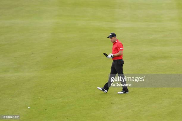 Daniel Nisbet of Australia walks down the 17th fairway during day four of the ISPS Handa New Zealand Golf Open at Millbrook Golf Resort on March 4...