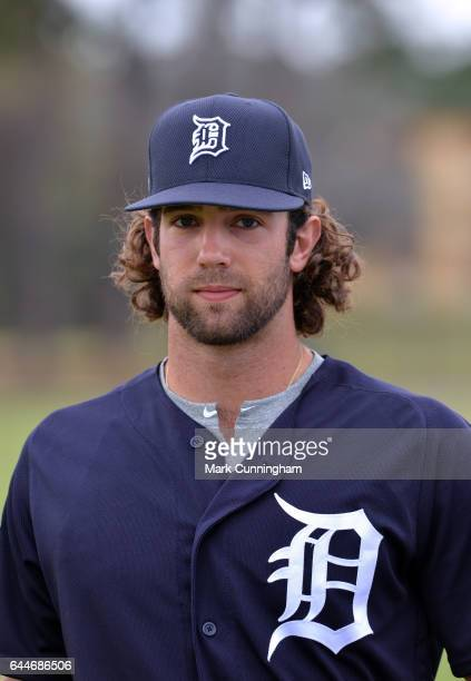 Daniel Norris of the Detroit Tigers looks on during Spring Training workouts at the TigerTown facility on February 21 2017 in Lakeland Florida