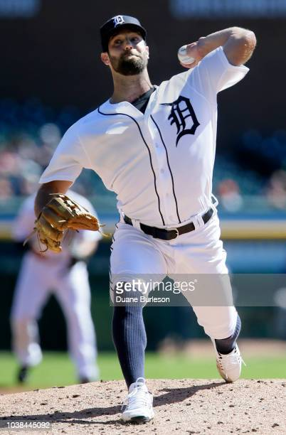 Daniel Norris of the Detroit Tigers pitches against the Kansas City Royals during the second inning at Comerica Park on September 23 2018 in Detroit...