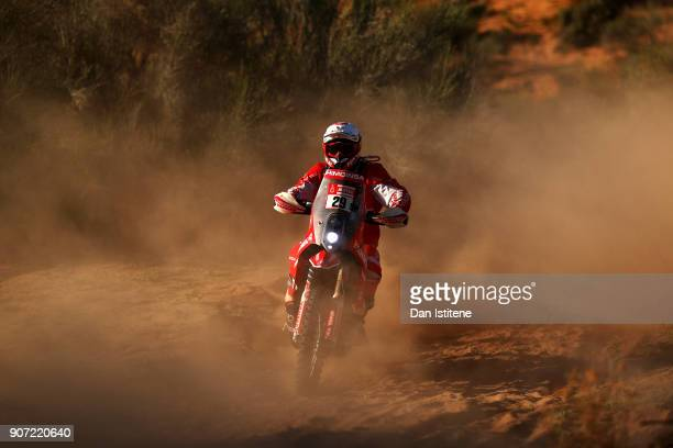 Daniel Oliveras Carreras of Spain and KTM Himoinsa rides a 450 KTM bike in the Classe 21 Super Production during stage thirteen of the 2018 Dakar...