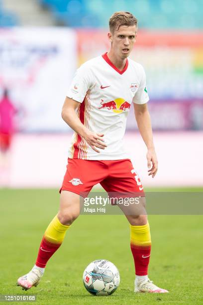 Daniel Olmo Carvajal of RB Leipzig controls the ball during the Bundesliga match between RB Leipzig and Borussia Dortmund at Red Bull Arena on June...