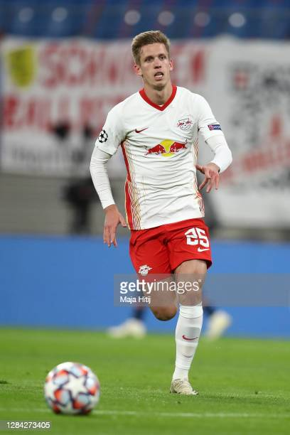 Daniel Olmo Carvajal of RB Leipzig controls the ball during the UEFA Champions League Group H stage match between RB Leipzig and Paris Saint-Germain...