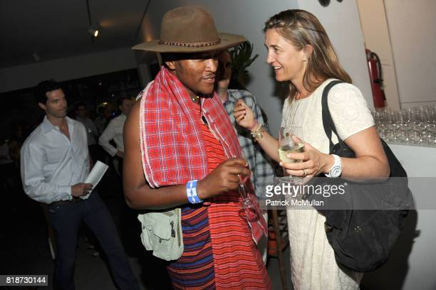 Daniel Oltimbau and Vanessa von Bismarck attend KAGENO Summer Cocktail Party at Max Lang Gallery at Max Lang Gallery on June 22 2010 in New York City
