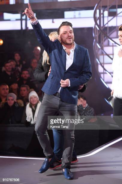 Daniel O'Reilly is evicted from the Celebrity Big Brother house at Elstree Studios on January 26 2018 in Borehamwood England
