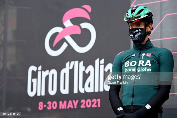 Daniel Oss of Italy and Team Bora - Hansgrohe at start during the 104th Giro d'Italia 2021, Stage 4 a 187km stage from Piacenza to Sestola 1020m /...
