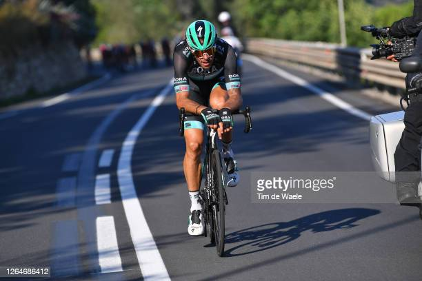 Daniel Oss of Italy and Team Bora - Hansgrohe / Breakaway / during the 111st Milano - Sanremo 2020 a 305km race from Milano to Sanremo /...