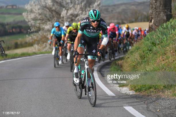 Daniel Oss of Italy and Team Bora - Hansgrohe / during the 54th Tirreno-Adriatico 2019, Stage 2 a 195km stage from Camaiore to Pomarance 364m /...