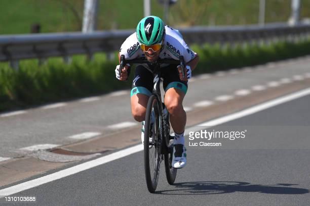 Daniel Oss of Italy and Team Bora - Hansgrohe during the 75th Dwars Door Vlaanderen 2021, Men's Elite a 184,1km race from Roeselare to Waregem /...
