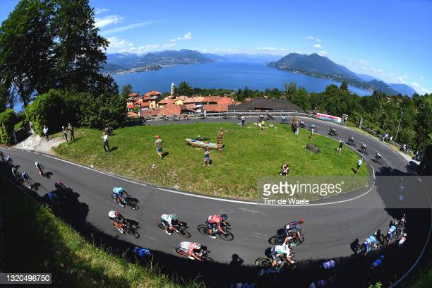 Daniel Oss of Italy and Team Bora - Hansgrohe, Salvatore Puccio of Italy and Team INEOS Grenadiers, Patrick Bevin of New Zealand and Team Israel...