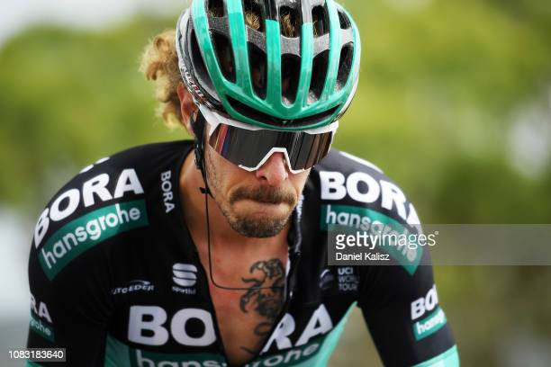 Daniel Oss of Italy and Team Bora-Hansgrohe competes during stage two of the 2019 Tour Down Under on January 16, 2019 in Norwood, Australia.