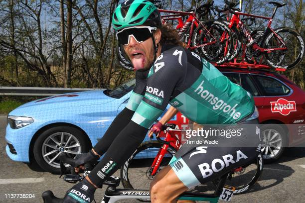 Daniel Oss of Italy and Team Bora-Hansgrohe / during the 110th Milan-Sanremo 2019 a 291km race from Milan to Sanremo / @Milan_Sanremo / on March 23,...