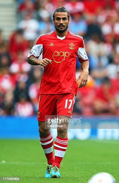 Daniel Osvaldo of Southampton looks on during the Barclays Premier League match between Southampton and Sunderland at St Mary's Stadium on August 24...