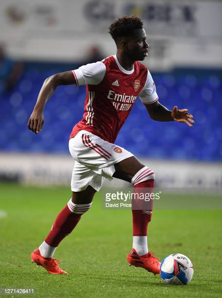 Daniel Oyegoke of Arsenal during the Leasingcom Cup match between Ipswich Town and Arsenal U21 at Portman Road on September 08 2020 in Ipswich England