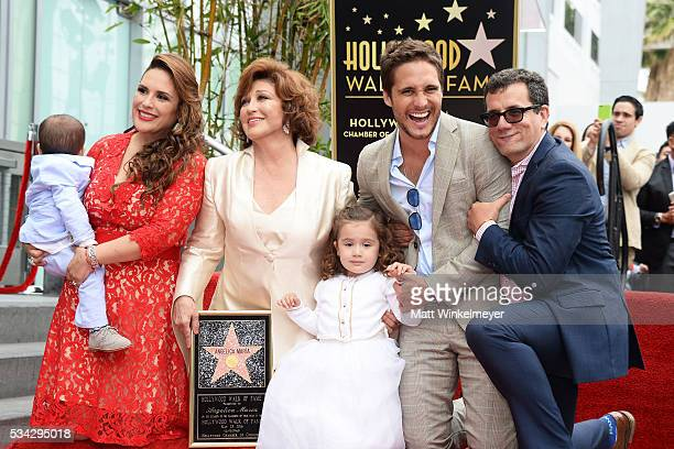 Daniel Padron actress Angelica Vale singer Angelica Maria Angelica Padron actor Diego Boneta and Otto Padron attend a ceremony honoring Angelica...