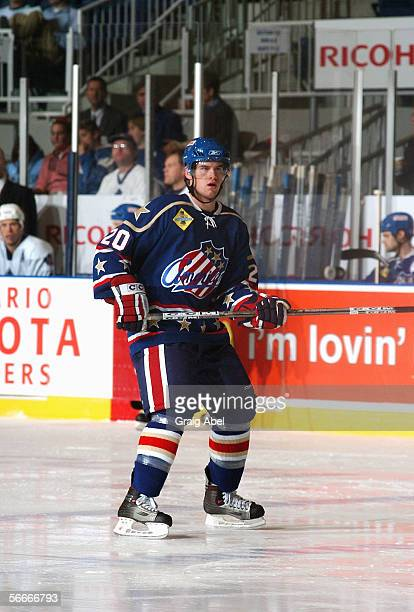 Daniel Paille of the Rochester Americans skates against the Toronto Marlies at Ricoh Coliseum on December 11 2005 in Toronto Ontario Canada Rochester...