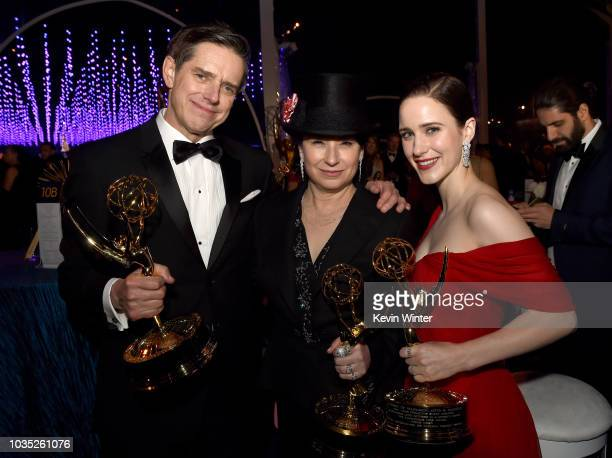 Daniel Palladino winner of the Outstanding Comedy Series award for 'The Marvelous Mrs Maisel' Amy ShermanPalladino winner of the Outstanding Comedy...