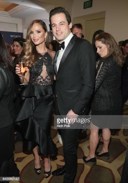Daniel Paltridge President North America Bulgari and fashion designer Georgina Chapman attend The Weinstein Company's PreOscar Dinner in partnership...